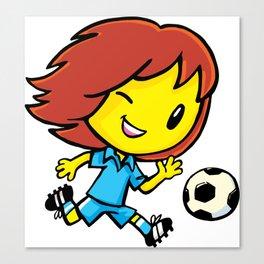 Emo Footballer Canvas Print