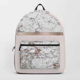 Gleaming rose gold blush Backpack