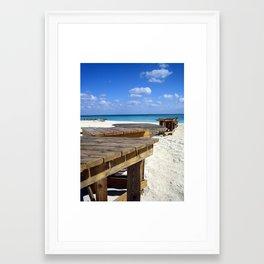 Caribbean Boardwalk Framed Art Print