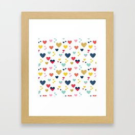 cheerful hearts Framed Art Print