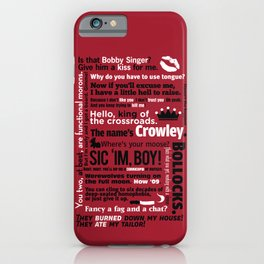 Supernatural - Crowley Quotes iPhone Case
