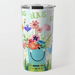 Spring Has Sprung Cuteness In The Garden Travel Mug