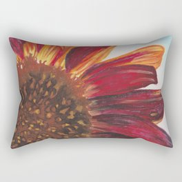Purple Sunflower Rectangular Pillow