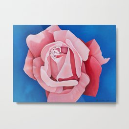 Perfume Delight - Pink Tea Rose Art Metal Print