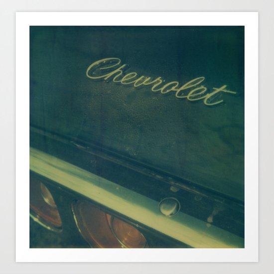 Chevrolet Polaroid Art Print