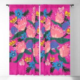 Pink Peonies Blackout Curtain