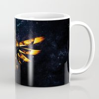 targaryen Mugs featuring Zelda Triforce Red Flame by aleha