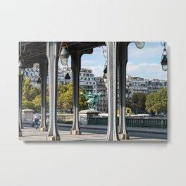 Pont de Bir-Hakeim in Paris Metal Print