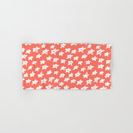 Stars Living Coral Hand & Bath Towel