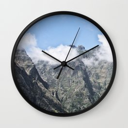 Mountain Madeira 5 Wall Clock