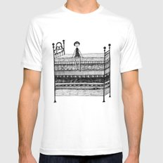 The Princess and the Pea White Mens Fitted Tee MEDIUM