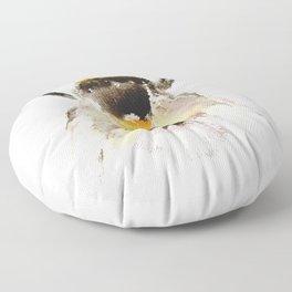 Bumblebee, fuzzy bee Floor Pillow