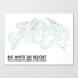 Big White, BC, Canada - Minimalist Trail Art Canvas Print