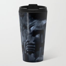 """Eduardo Paolozzi abstract print. """"Knowledge is wonderful but imagination is even better"""" Travel Mug"""
