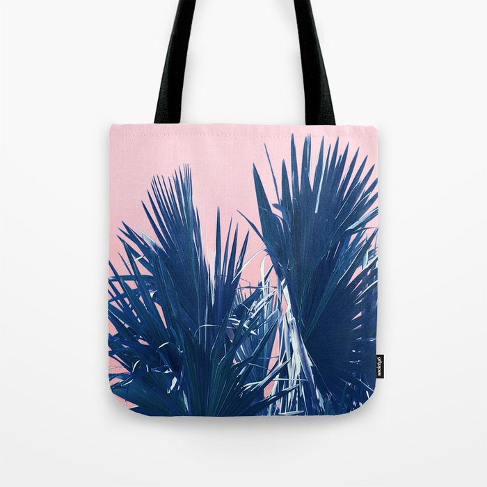 Pink Palm Twist Tote Bag