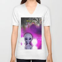 aliens V-neck T-shirts featuring Aliens by Aisling Rowland