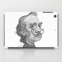 salvador dali iPad Cases featuring Salvador Dali by Stavros Damos