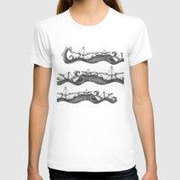 boats T-shirts featuring Paper boats by Sara Elan Donati