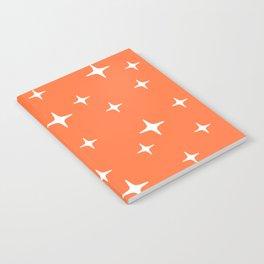 Mid Century Modern Star Pattern 443 Orange Notebook