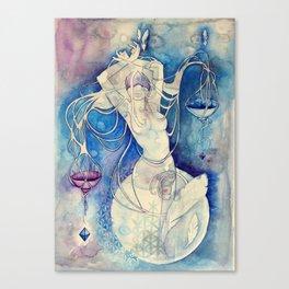Goddess of Libra - An Air Element Canvas Print