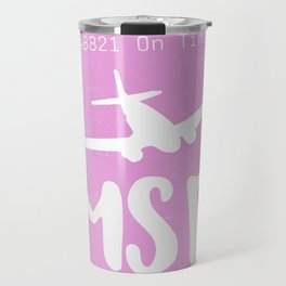 MSP Minneapolis airport tag Travel Mug