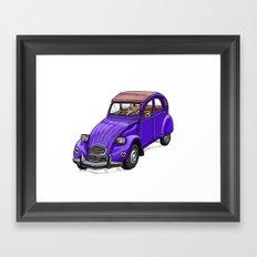 Purple 2CV Framed Art Print
