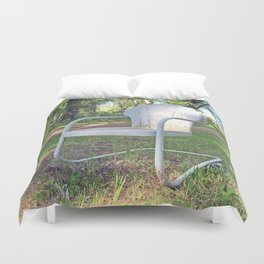 Vintage Chair by the Road Duvet Cover