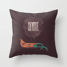 Smoke! Throw Pillow