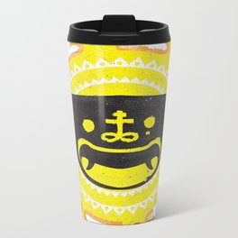 Mask of Cap Metal Travel Mug