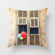 Nice France window 6133 Throw Pillow