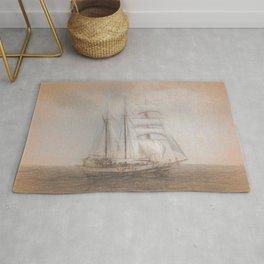 Atlantis Sailing Ship da Vinci Rug