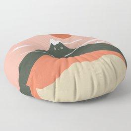 Cat Landscape 72 Floor Pillow