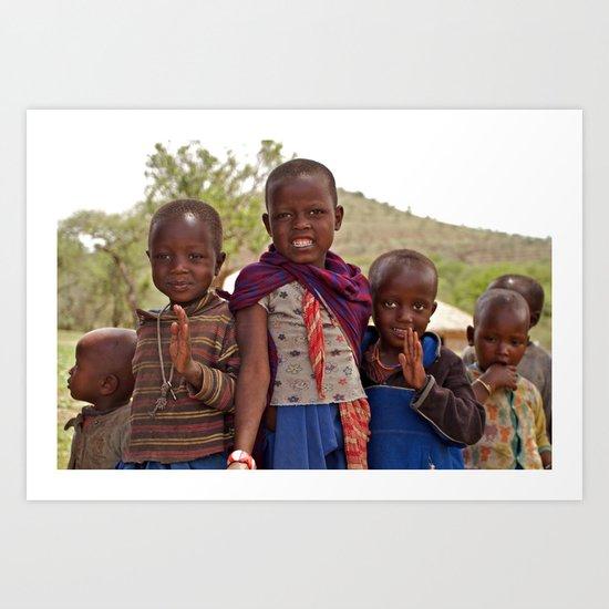 Maasai Children Art Print