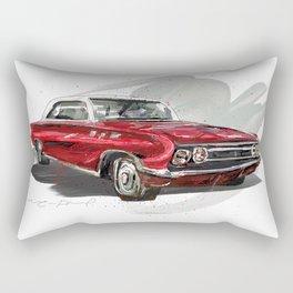 Red Old fashion Car Rectangular Pillow
