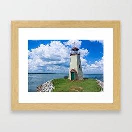 The Lake Hefner Lighthouse, Oklahoma City Framed Art Print