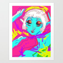 Alien in Love Art Print