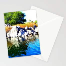 Beautiful Blue Nile River Stationery Cards