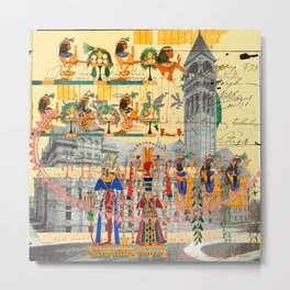 THE COLORFUL HIEROGLYPHICS AND THE MANOR HOUSE I Metal Print