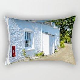 Mylor Walk - Cottage with Post Box Rectangular Pillow