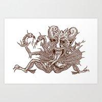 satan Art Prints featuring SaTaN by Kurz Daniel