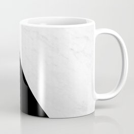Marble And Black Diagonal Coffee Mug