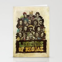 reggae Stationery Cards featuring Legends of Reggae Poster by Panda