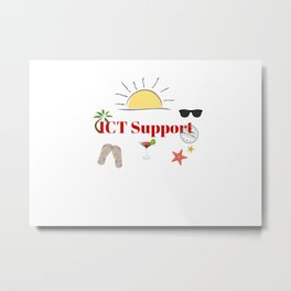 ICT Support on vacation Metal Print