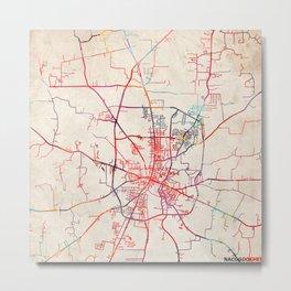 Nacogdoches map Texas TX Metal Print