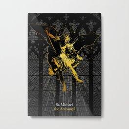 St Michael the Archangel, Superior Angel Metal Print