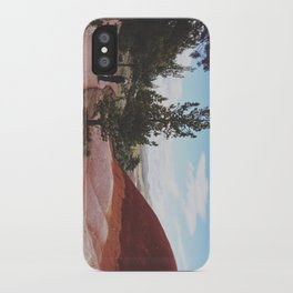 Man and His Dog at Painted Hills  iPhone Case