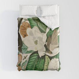 Black billed Cuckoo - John James Audubon's Birds of America Print Comforters