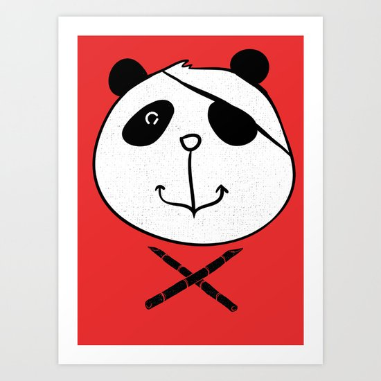 One eyes panda Art Print