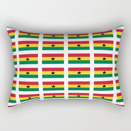 Flag of Ghana -Ghanaian,accra,kumasi,Akans,Dagbani,Tamale,Gold coast,Ashanti Rectangular Pillow