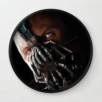 bane Wall Clocks featuring Bane by Rav Chaggar
